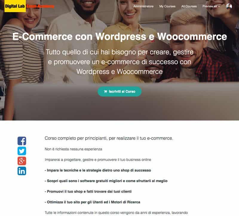 Corso Ecommerce con WordPress
