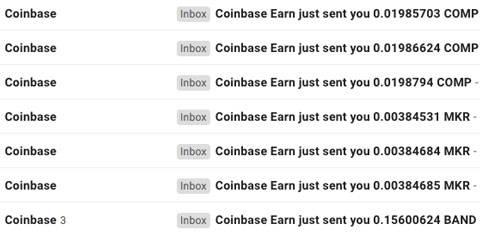 conferma ricezione crypto gratuiti coinbase