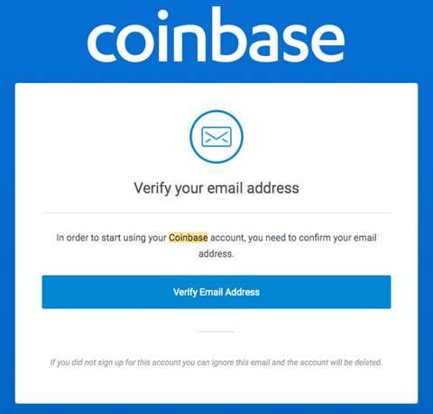 verifica email per coinbase.com